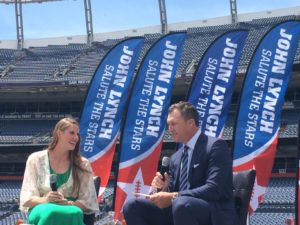Missy Franklin and John Lynch