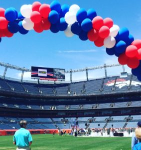 The 18th Annual Salute the Stars luncheon on May 6, 2016 at Sports Authority Field.